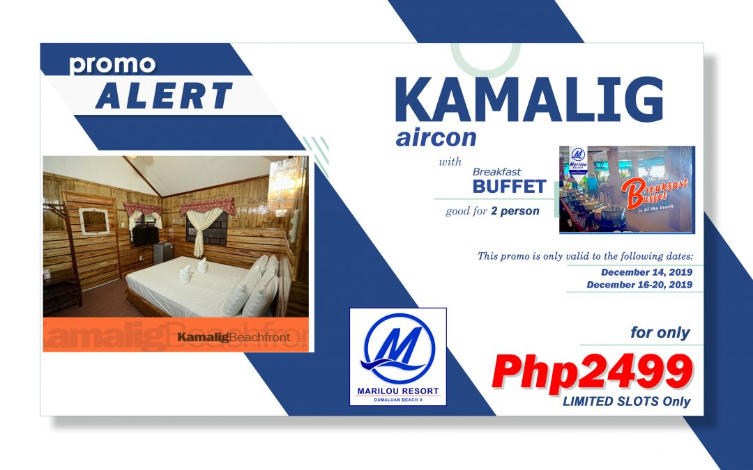 Promo Alert: KAMALIG BEACHFRONT with Breakfast Buffet